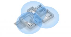 Mesh-netwerk door het huis