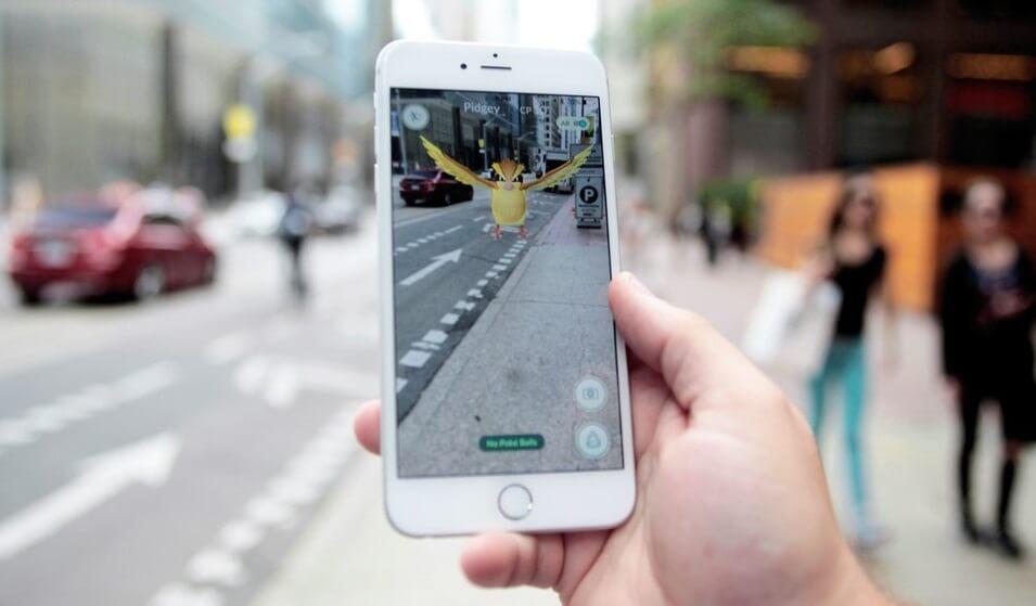 Augemented Reality bij Pokemon Go