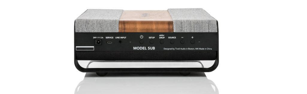 Aansluitingen en bedieningspaneel Tivoli Model Sub